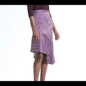Banana Republic Asymmetrical Stripped  Skirt